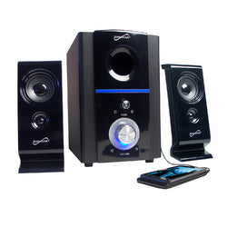 Supersonic 2.1 Multimedia Speaker System with USB/SD Inputs