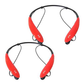 2PC SetSports Bluetooth Headphones in Red