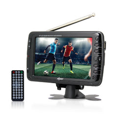 "Axess 7"" LCD TV with ATSC/NTSC Digital Tuner Built-in Rechargeable Battery and USB/SD Card Reader"