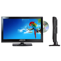"Axess 13.3"" LED AC/DC TV with DVD Player Full HD with HDMI, SD card reader and USB"