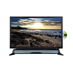 "Axess 24"" Widescreen HD LED TV DVD Combo with SoundBar"