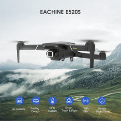 Eachine E520/ E520S  RC Drone One Battery GPS WIFI FPV Quadcopter With 4K/1080P HD Wide Angle Camera Foldable Altitude Hold