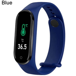 Fitness Bracelet Body Temperature Blood Pressure Smart Bracelet Fitness Tracker Pedometer Smart Band Watch For Men Women Kids