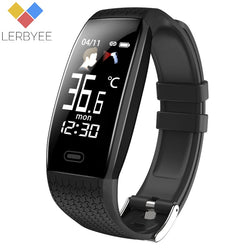 Lerbyee 2020 Smart Watch T5 Body Temperature Waterproof Fitness Watch Call Reminder Sport Mode Smartwatch Sport Men Women Hot