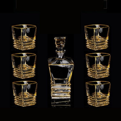 High quality Crystal glasses & 750mll Decanter