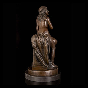 Home desk decoration small size bronze nude lady statue sculpture for sale