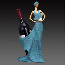 Eastern Beauty Sculpture Resin Wine Rack / Bottle Holder