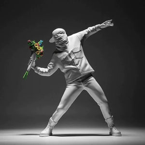Banksy Flower Thrower - Home Decoration Accessories Modern Ornament