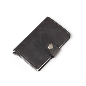 Wallet Aluminum Mini Wallet With Back Pocket ID Card RFID Blocking