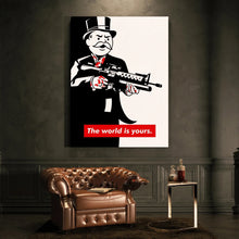 Abstract Pop Art Banksy Posters Canvas Painting