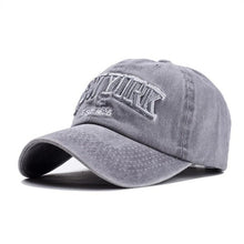 Sand washed 100% cotton baseball cap NEW YORK embroidery letter