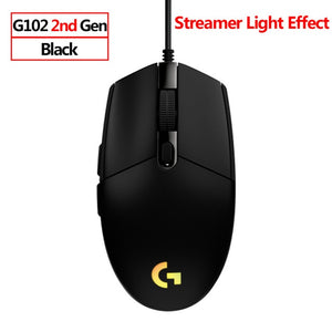 Logitech G102 LIGHTSYNC Gaming Mouse RGB Backlight 6 Buttons