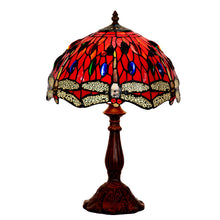 Red dragonfly Tiffany lamp glass lamp