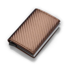 Carbon Fiber Wallets Men Rfid Card Holder Slim Wallet