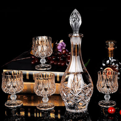 Crystal Glasses and Wine Decanter set