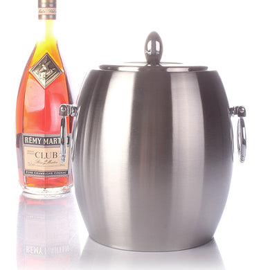 Stainless Steel Double-Wall Ice Bucket With Lid