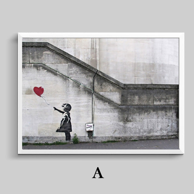 Banksy Posters And Print Modern Canvas Painting Morden Liberalism Wall Art