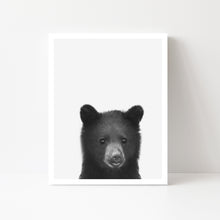 Black and White Bear Art Print