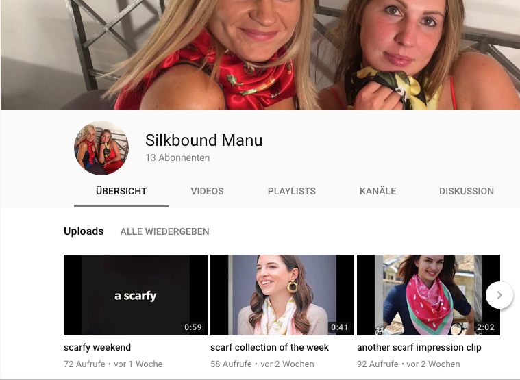 silkbound Manu new on youtube