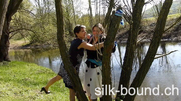 5 Minute clip - Andrea tied outdoor