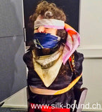 Cora Chairtied, gagged and blindfolded