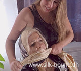 Headscarf Lady in Trouble - bondage, blindfolds and gags with scarves