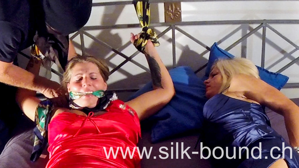 Bedtied in Silk - with Alexandra and Andrea