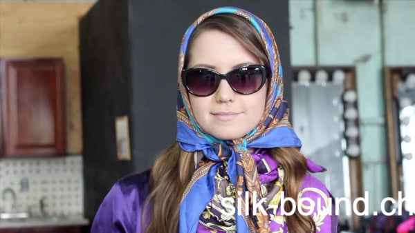 Director's cut - CHRISSY wearing silk scarves