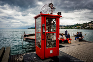 Very Red Phone boot - Montreaux, Switzerland