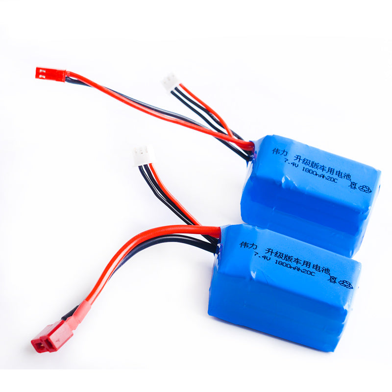 1pcs Li-Polymer 2S Lipo Battery 7.4V 1800mah 20C Max 40C for Wltoys A959-b A969-b A979-b K929-B RC Car Boat Quadcopter FPV