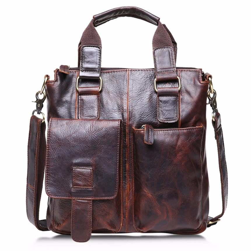 Genuine Leather Vintage Buffalo Messenger Bags