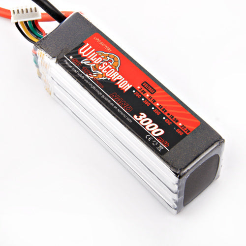 1pcs Wild scorpion Lipo Battery RC 18.5V 3000mAh 60C 5S For RC Quadcopter Drone Helicopter Car Airplane