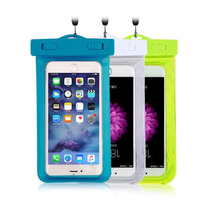 Multi-color Clear Waterproof Phone Pouch!