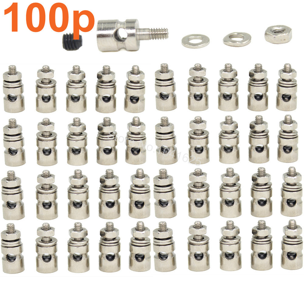 100pcs RC Airplane Replacement Parts Linkage Stoppers Pushrod Connectors D2.1 mm  D1.8mm D1.3mm For Nitro Electric Model Plane