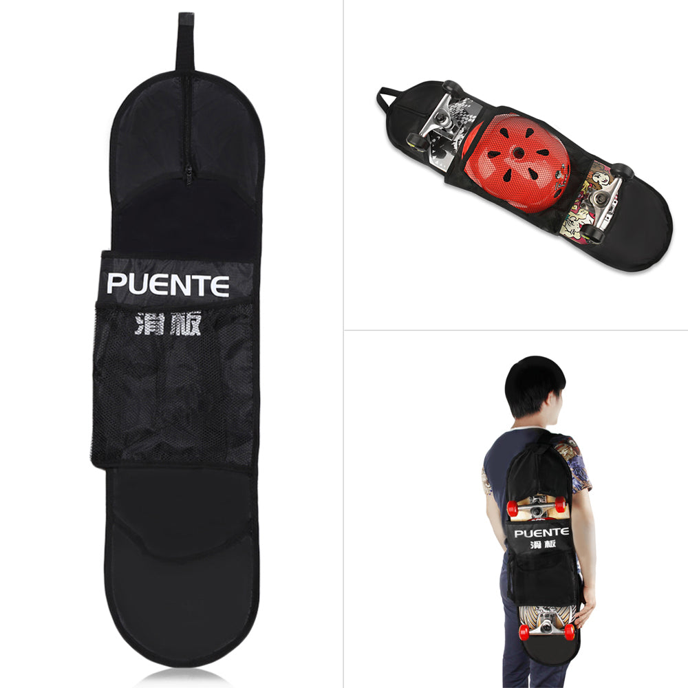 PUENTE Outdoor Water Resistant High-Fiber Polyester Skateboard Scooter Carrying Bag Case