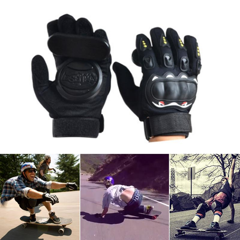 Forfar Pair Skateboard Grip Slide Protective Gloves Longboard with Foam Palm