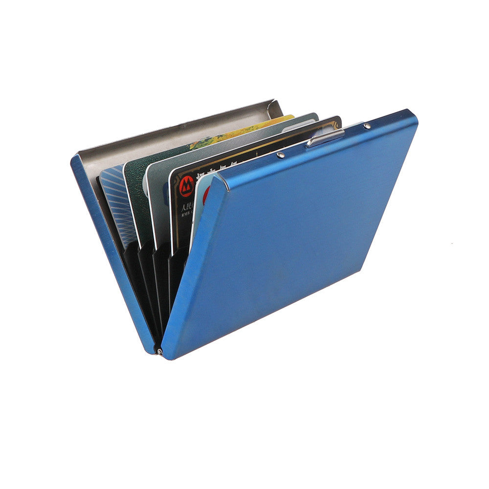 RFID Blocking Credit Card Holder Stainless Steel Wallet Case for ID Ca