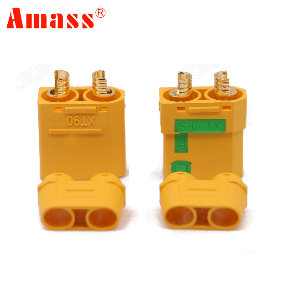 1pair Amass XT90S XT90-S Male Female Bullet Connector Anti Spark For RC DIY FPV Quadcopter brushless motor Drone