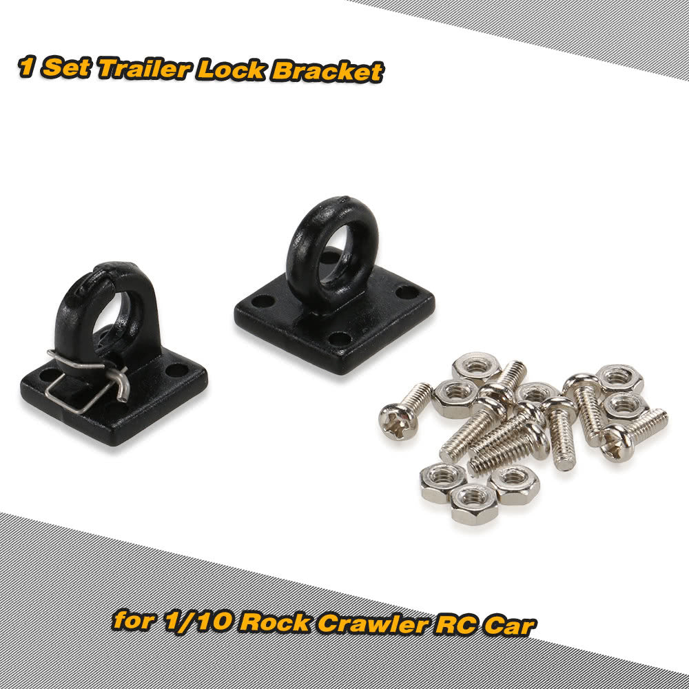 1 Set Trailer Tow Lock Shackle Bracket for 1/10 RC4WD D90 SCX10 Rock Crawler RC Car