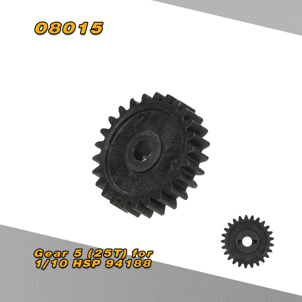 08015 Differential Gear 5 (25T) for 1/10 HSP 94188 94108 4WD Nitro Powered Off Road Monster Truck