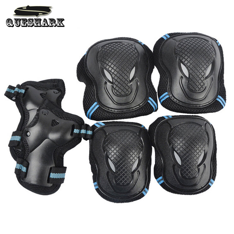 6Pcs/Set Men Women Children Kid Sports Roller Skating Skateboard Skiing Elbow Knee Pads Wrist Protective Guard Gear Pad Gear