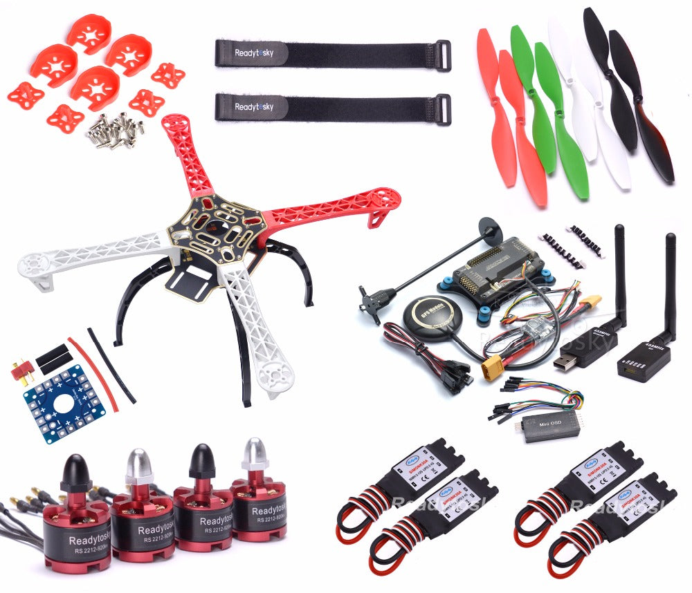 F450 Multi-Copter Frame 2212 920KV Brushless Motor 433mhz Telemetry Mini OSD APM2.8 Flight Control 8N GPS ESC Super combo