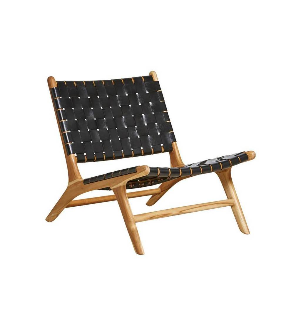 Low-line Roxy Woven Chair - Black (Pre-Order Only)