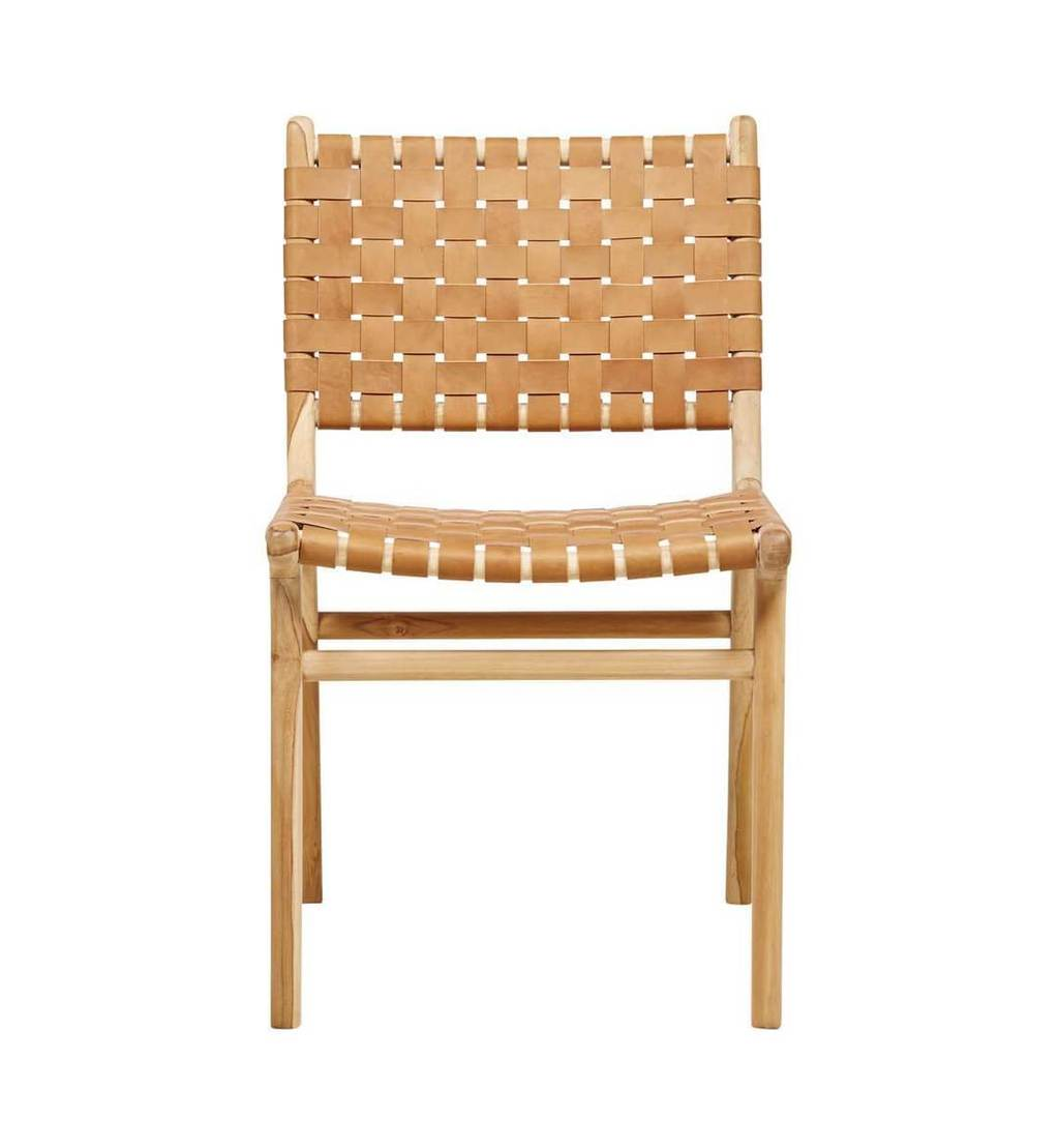 Dining Chair Woven- Tan