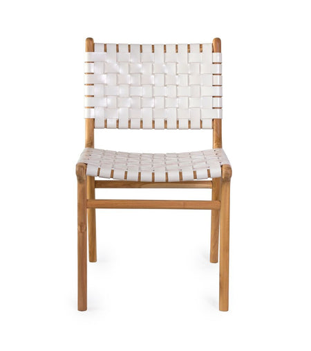 Dining Chair Woven- White