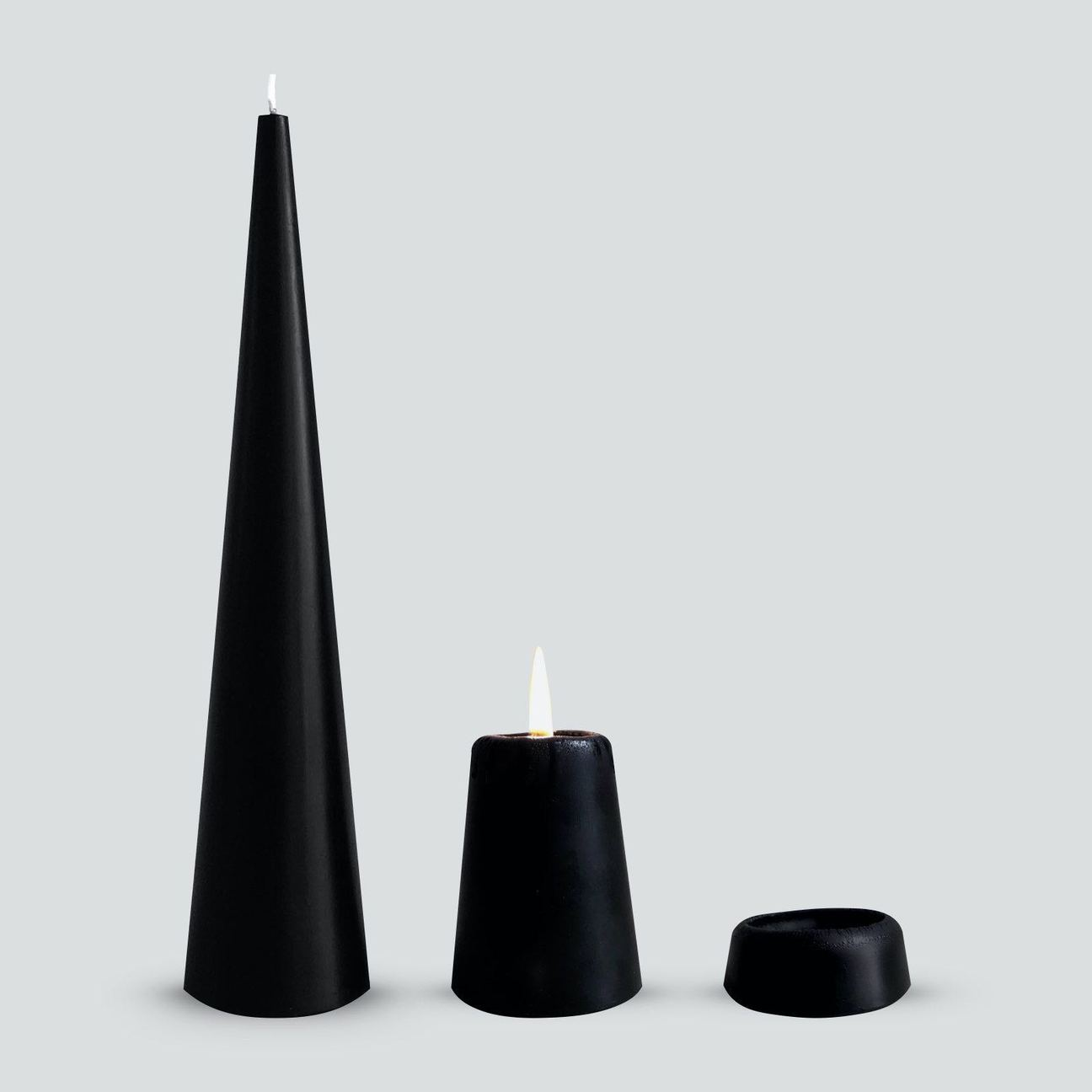 Black Cone Candle- S- Candle Kiosk