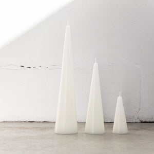 Cone Candles Warm White