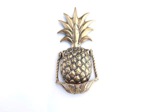 Brass Pineapple Door Knocker - Medium