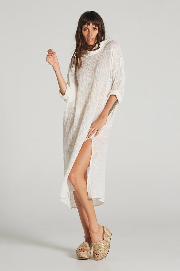 Manhattan Dress Panna White
