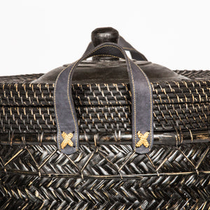 Seagrass and Leather Basket